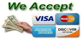 We Accept Cash, Debit, & Credit Cards